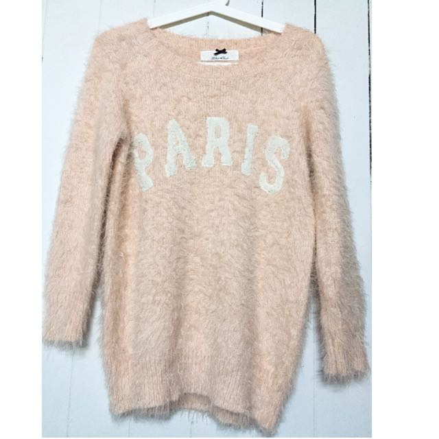 粉膚色 毛衣 上衣