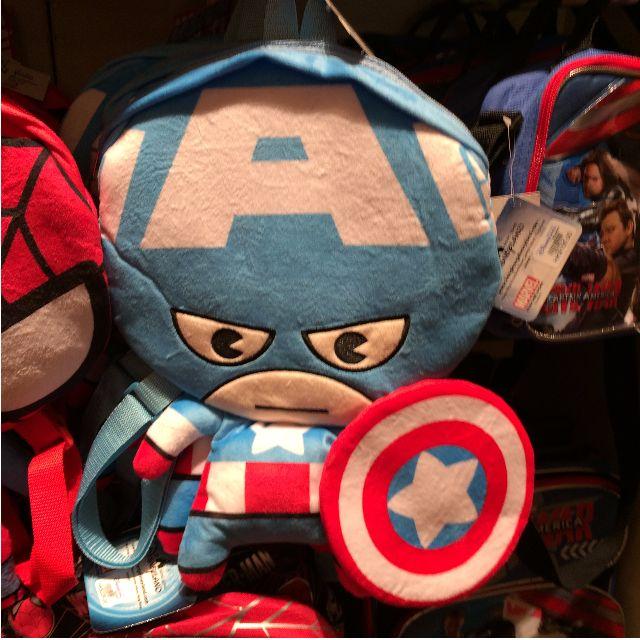 《聖誕限時優惠》香港迪士尼 美國隊長 蜘蛛人 鋼鐵人 史迪奇 背包