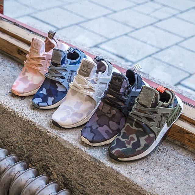 8cd665405e563 Adidas NMD XR1 Duck Camo Black   White   Pink   Blue   Olive Green ...