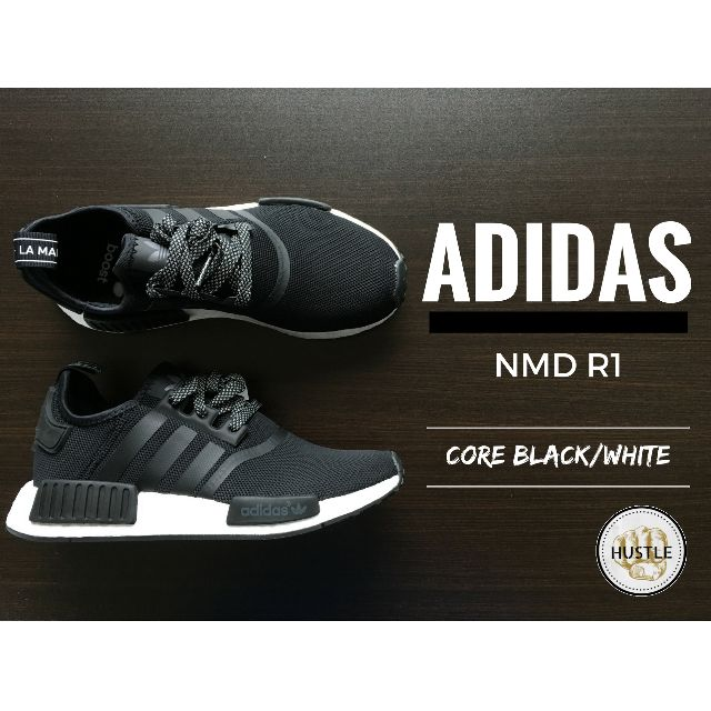 Adidas Originals NMD R1 (CORE BLACK / WHITE)
