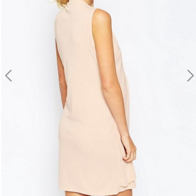 d7d858f1214be ASOS Maternity NURSING Shift Dress With Wrap Over - Nude, Women's Fashion,  Clothes, Dresses & Skirts on Carousell
