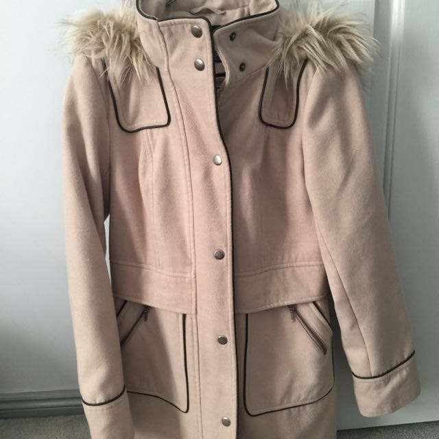 Beige Neutral Coat Winter Jacket AU8