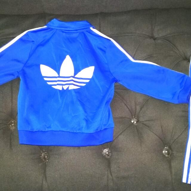 Blue Adidas Track suit