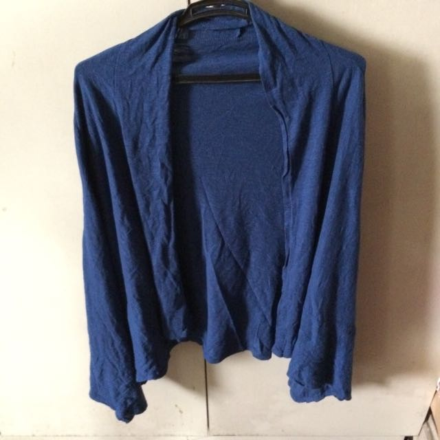 Blue Cardigan Low Front