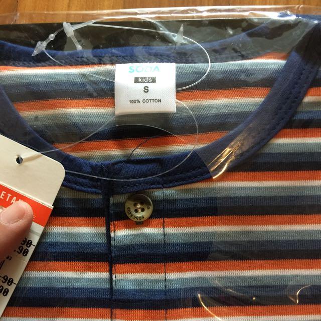BNWT Soda Brand Boy's Tee & Shorts Set (size S)