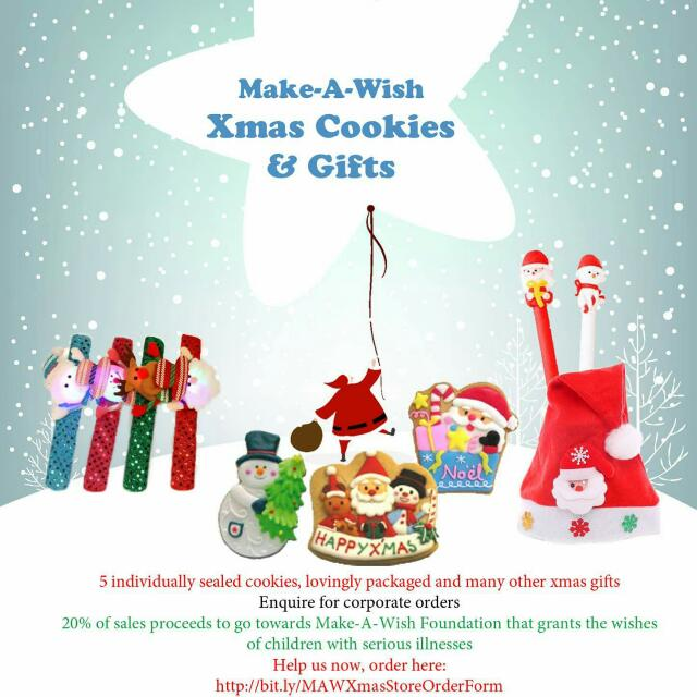 Christmas Cookies For Sale Xmas Fundraising For Make A Wish Foundation