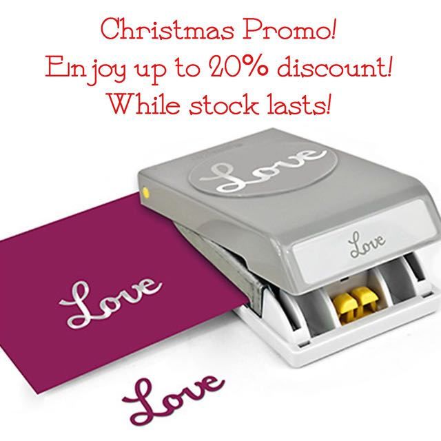 SOLD [CHRISTMAS PROMO]: NEW EK TOOLS PAPER PUNCH