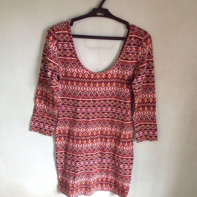 Forever 21 Aztec Bodycon Dress