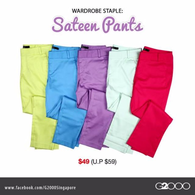 G2000 SATEEN PANTS