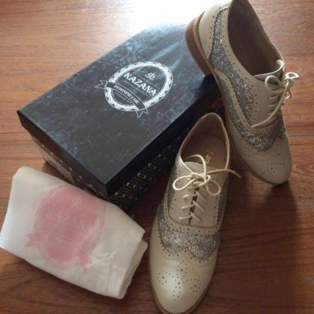 Grace Gift x Kazana學院風兩片牛津鞋