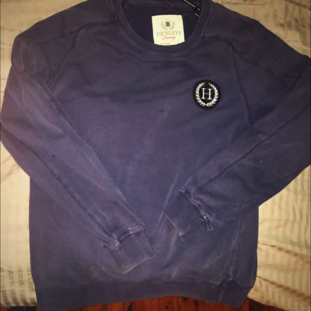 Henleys Washed Out Jumper Large
