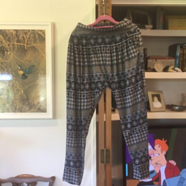 Hippie Low Crotch Pants
