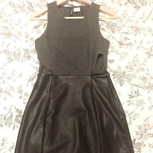 H&M Faux Leather Dress