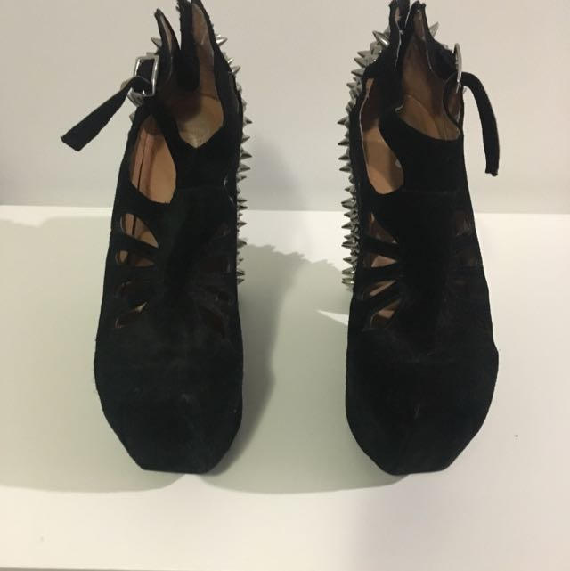 Jeffery Campbell Studded Wedges Size: 9