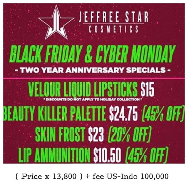 Jeffree Star Sale