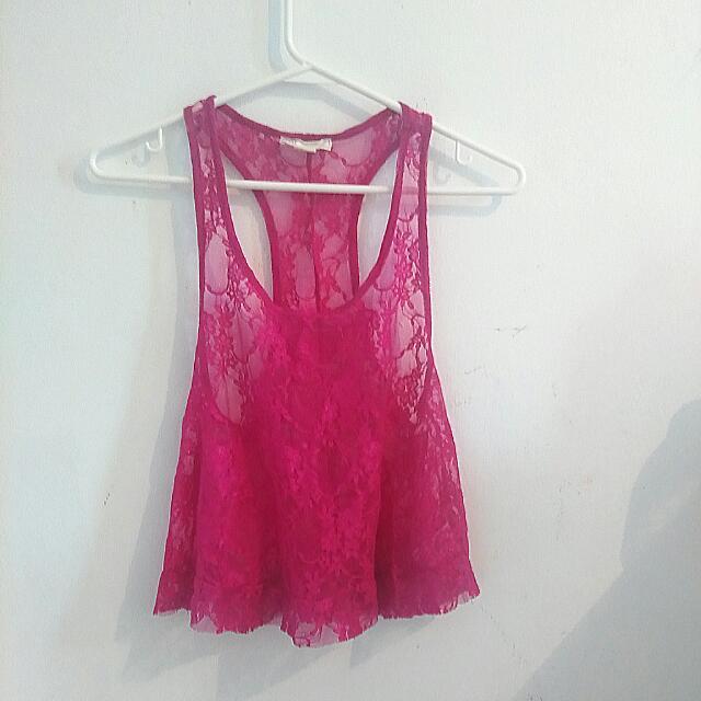Lace Crop Top F21 Size medium