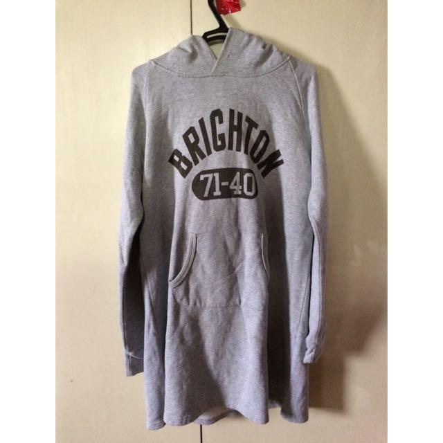Long Gray Brighton Hoodie