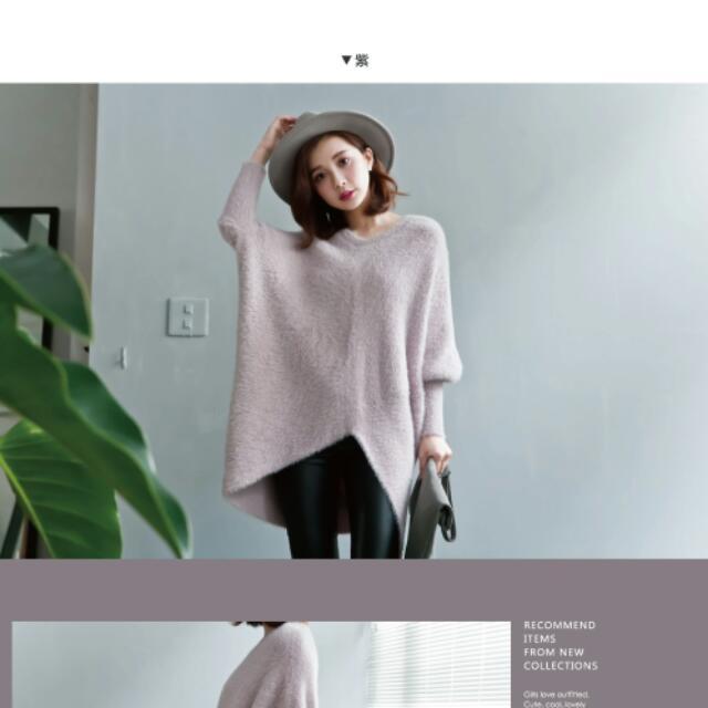 LULUS下襬不規則連袖毛衣