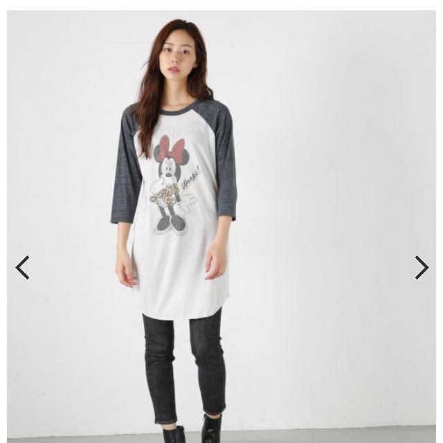 日本專櫃品牌moussy 米妮長版上衣