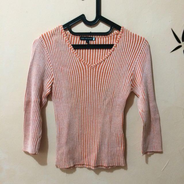 Noir Sur Blanc Sweatshirt Orange