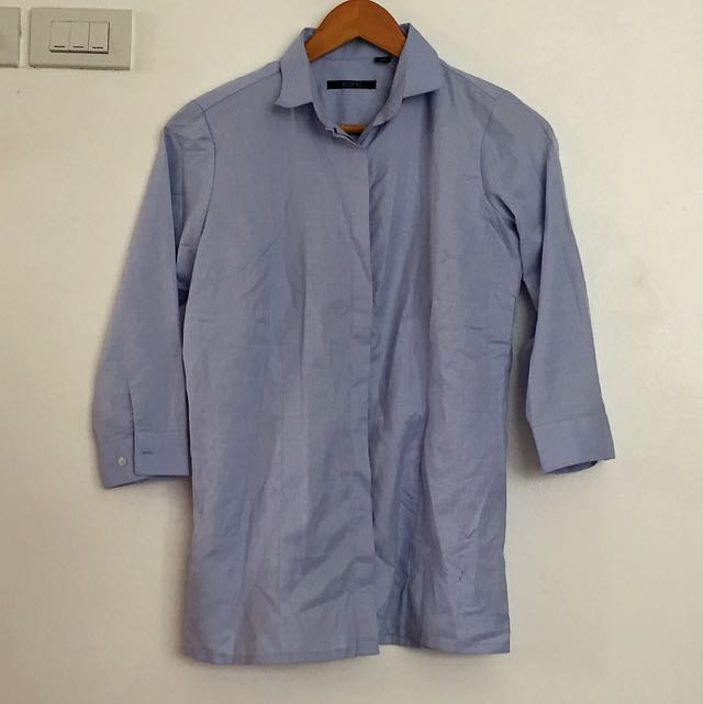 POWDER BLUE OFFICE TOP