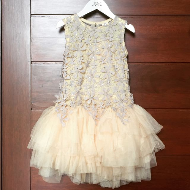 Premium Quality Lace Tutu Dress Warna Nude