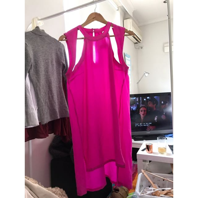 Shakuhachi Hot Pink Shift Dress Size 12