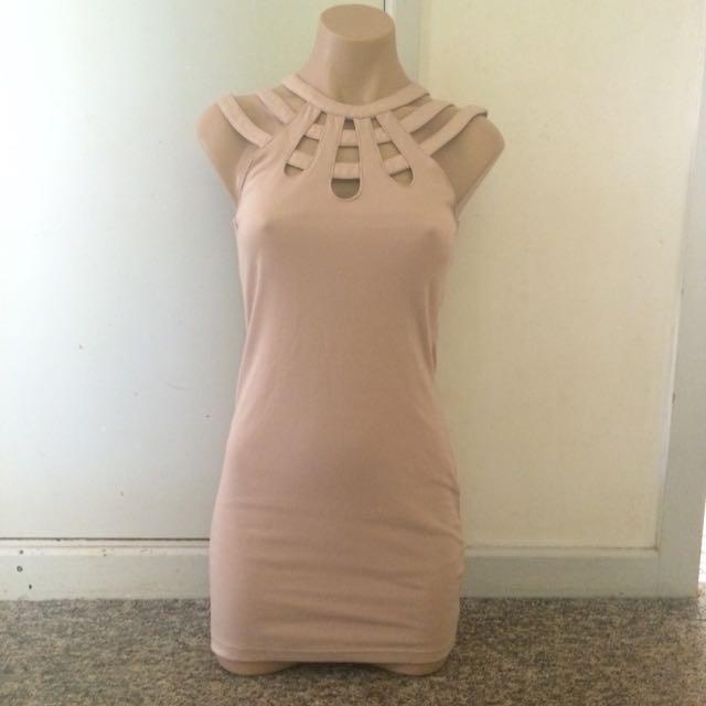 Size 8 Beige Dress