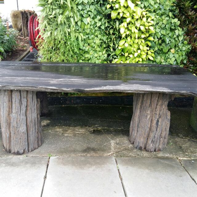 Three Sitter Garden Table and Bench