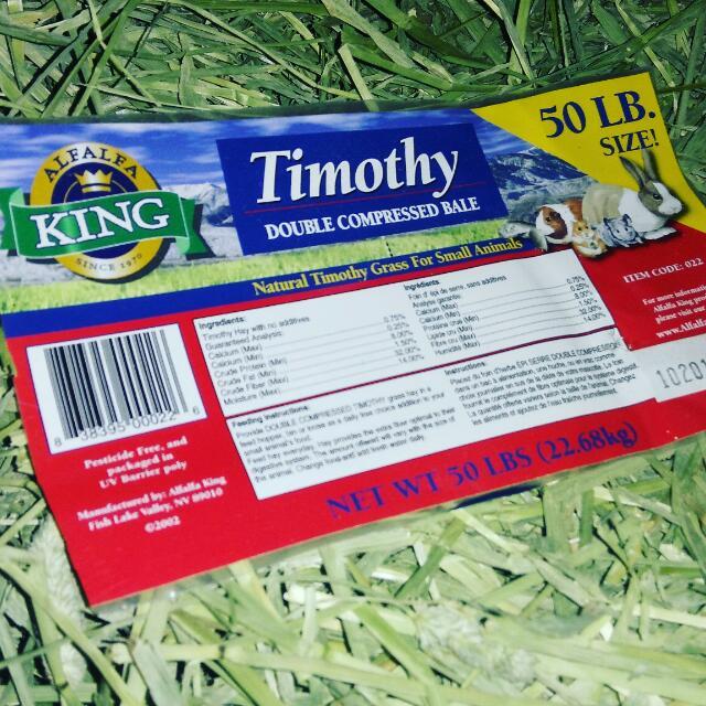 Timothy Hay Dari Alfalfa King Makanan Kelinci Marmut Guinea