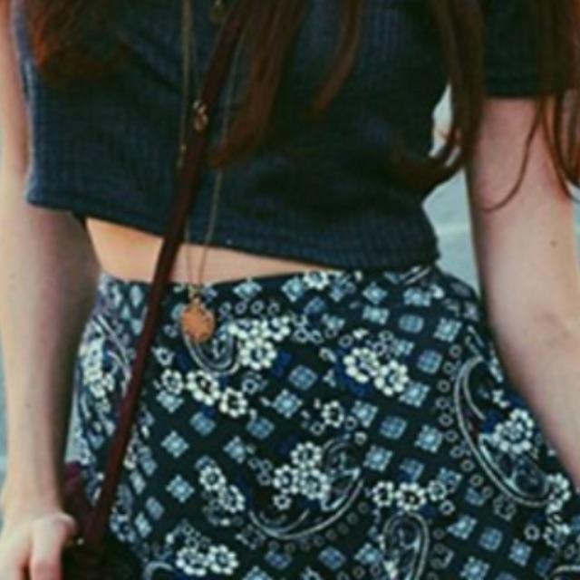 Topshop Pocket Midi Skirt Size 8