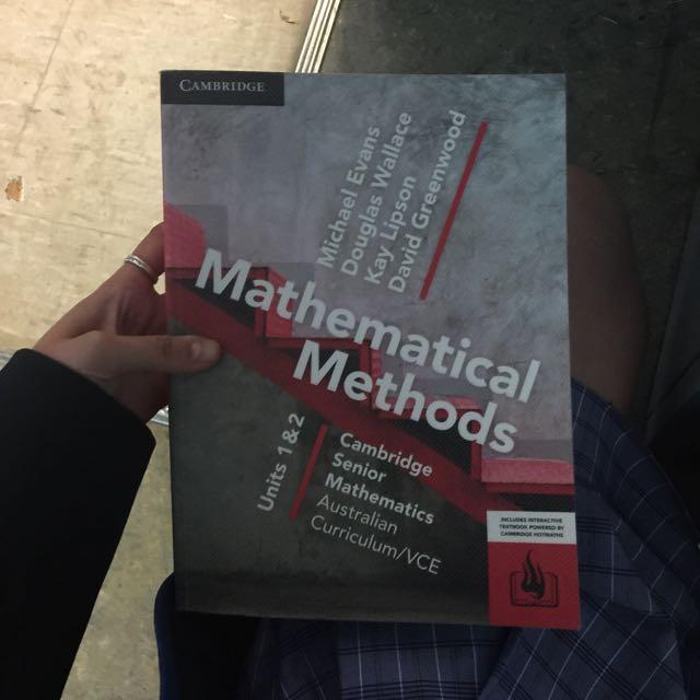 VCE mathematical methods