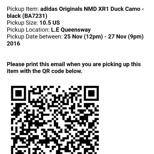 Want To Sell ADIDAS NMD XR1 Duck Camo Black, Luxury, Apparel