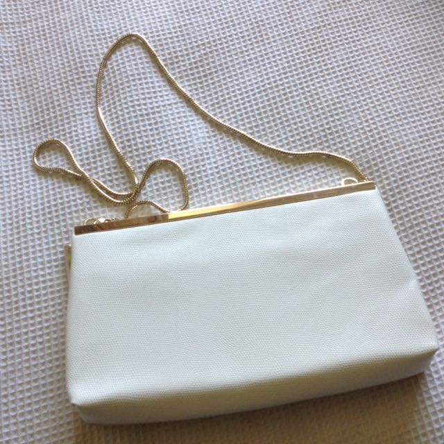 White & Gold Clutch By Forever New