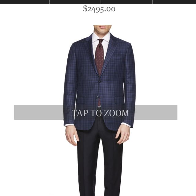 zegna suits brand new 100% wool