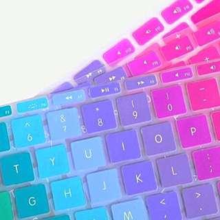 Rainbow Silicone MacBook Keyboard Protectors