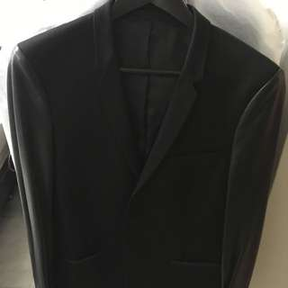 Kooples Leather Sleeved Blazer