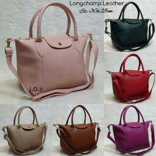 Tas Longchamp Leather