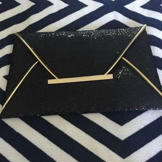 Black N Gold Wallet/purse