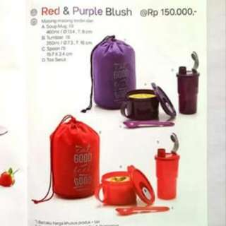Tupperware Red & Purple Blush