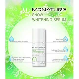[MDNATURE]Snow whitening serum 50ml anti oxidant serum brightening serum made in Korea