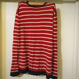 Classic Red & Navy Knit Sweater