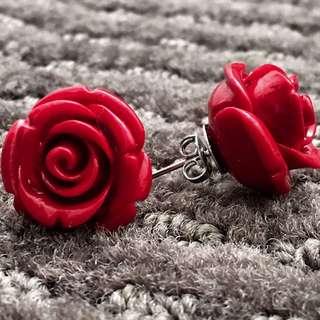 Artisan Rose Stud Earring (Large)