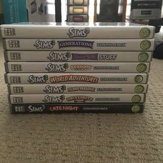 Sims 3 And Expansion Packs