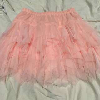 Peachy Pink Tulle Skirt