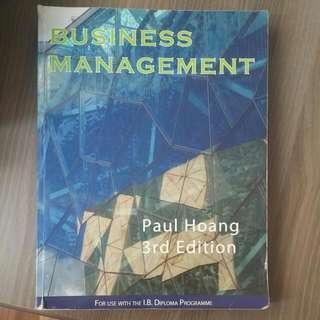 IB Business Management Textbook 3rd Edition Paul Hoang