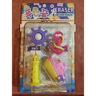Nautical Eraser Set (Pink)