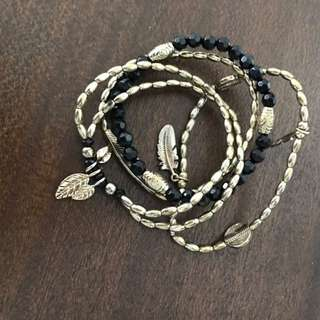 Black & Gold Stretchy Bracelets