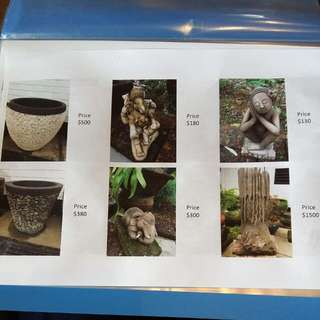 Water Feature & Pots