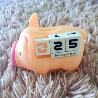 Calendar Piggy Bank